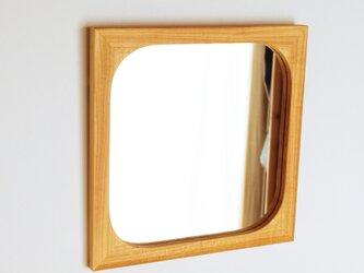 木製 角丸 鏡 桜材5 ミラーの画像