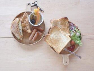 パン皿 アメリカンレッドオークの画像