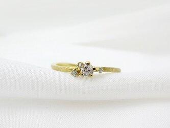 金の小枝 noce ダイヤリングの画像