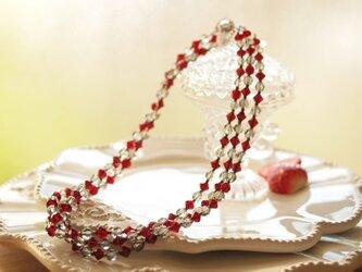 Swarovski * ラズベリー色のネックレス Red,2の画像