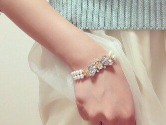 pearl bijou brecelet.の画像