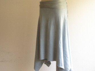 organic cotton Prana skirt 蒼色/オーガニックコットンスカートの画像