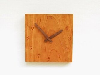 21cmX20cm 掛け時計 チェリー【1523】の画像