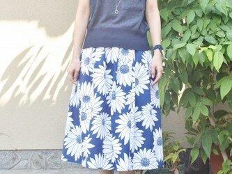 浴衣のタック入りスカート(ヒマワリ・M~L)の画像