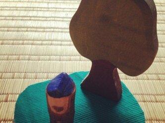 木のこびと 青×茶(小)の画像
