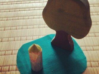 木のこびと 黄緑×青(小)の画像
