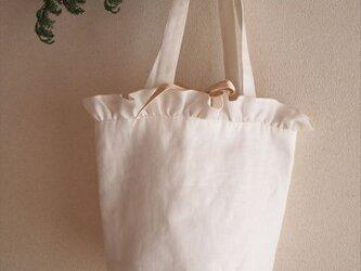 white lilac bucket basket(M)の画像