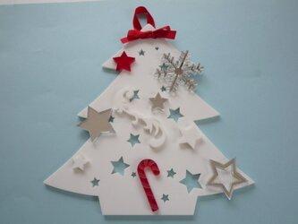 アクリルのクリスマスツリー(壁掛)№1の画像