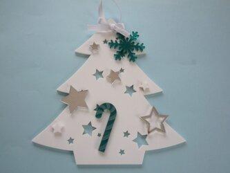アクリルのクリスマスツリー(壁掛)№2の画像
