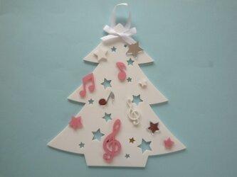 アクリルのクリスマスツリー(壁掛)№3の画像