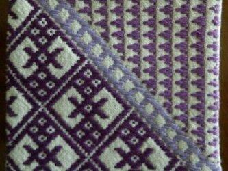 こぎん刺し コースター③ あずみ野木綿の画像