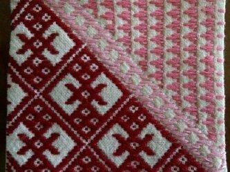 こぎん刺し コースター④ あずみ野木綿の画像