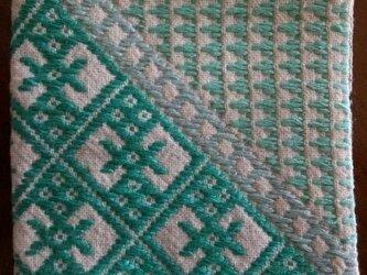こぎん刺し コースター⑤ あずみ野木綿の画像