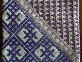 こぎん刺し コースター⑥ あずみ野木綿の画像