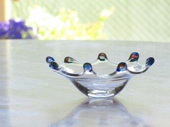 ブルーリップ皿 小の画像