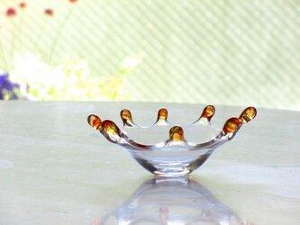 オレンジリップ皿 小の画像