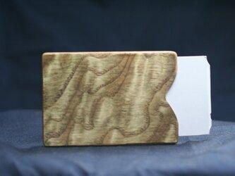スイカ(カード)ケース タモ玉杢 割れない特殊加工の画像