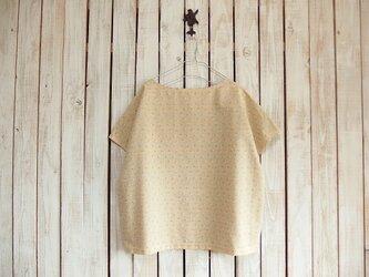 どっちもTシャツ/花柄ボーダー(マスタード)の画像