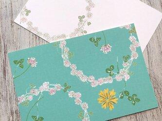 *リニューアル* クローバーの花環 カードの画像