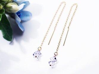 ハーキマーダイヤモンドのアメリカンピアス ~Apolenaの画像
