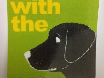 【再販】黒 ラブラドールレトリバー ステッカー DOG IN CARの画像