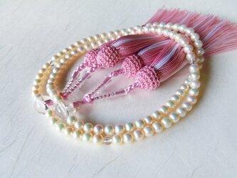 ベビーパールロング念珠/5㎜珠の画像