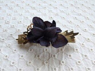 髪飾バレッタmini _purpleの画像