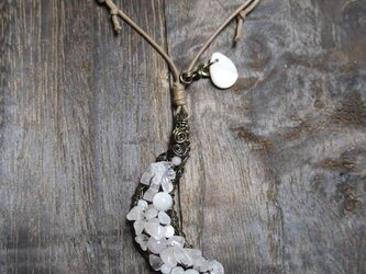ネックレス ローズクォーツムーンの画像