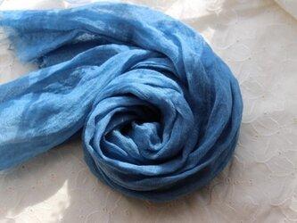 夏色  藍染(浅葱色)リネンstoleの画像