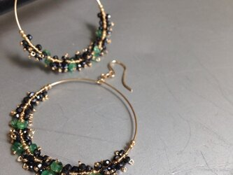 14kgf*emerald*spinel/earringの画像