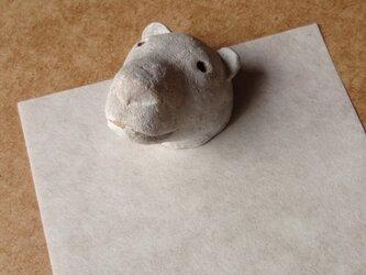 kuby:シロクマのペーパーウエイトの画像
