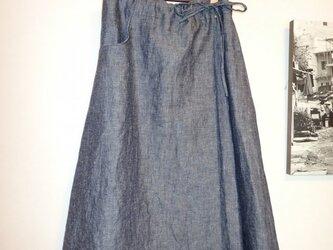 スカート その1 リネンのダンガリーでの画像