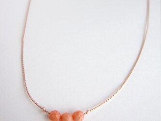 herb001 シルクコード×サンゴのネックレスの画像