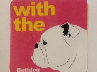 ブルドッグ 横顔 ステッカー DOG IN CARの画像
