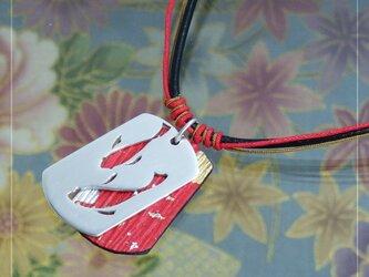 [銀×和紙]透かし和柄タグペンダント『和金』の画像