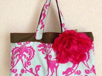 北欧柄 アニマル柄の手作りバッグの画像