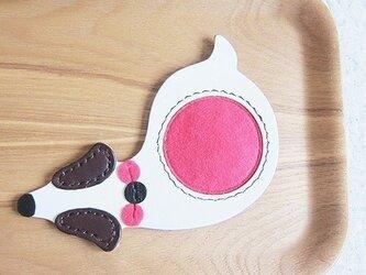 革製コースター(ピンク)の画像