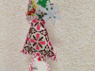 手作りキルトのクリスマスオーナメント2の画像