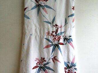 綿 白 夾竹桃 ノースリーブワンピース Mサイズの画像