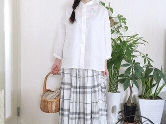 イタリー製リネン生地ギャザースカートの画像