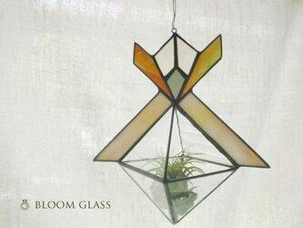 ステンドグラスのテラリウム:枠ベージュの画像