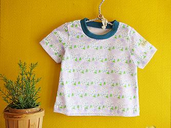 baby Tシャツ:アジサイ(うすむらさき)の画像