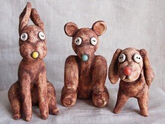 陶のぬいぐるみ(イヌのDoggy)の画像