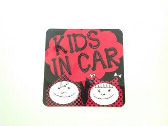 KIDS IN CAR ステッカー 男の子女の子の画像