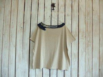 コラージュTシャツ/ベージュ aの画像