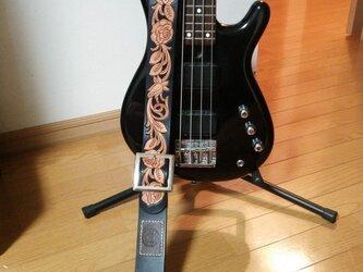 ギターストラップ【薔薇】の画像