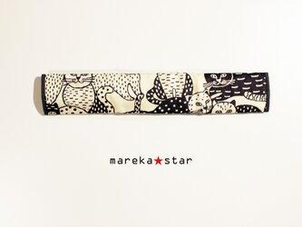【売約済M様】№356 ベビーカーフロントガードカバー☆猫グレーの画像