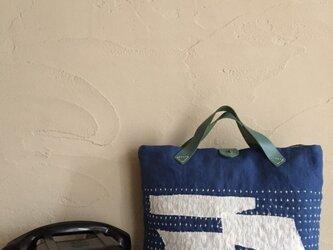刺し子バッグ 「渚」の画像