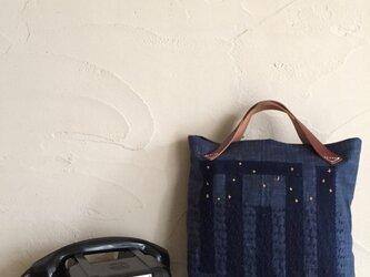 刺し子バッグ 「蛍」の画像