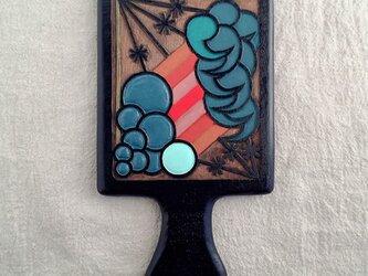木彫手鏡(shuiro)送料無料の画像